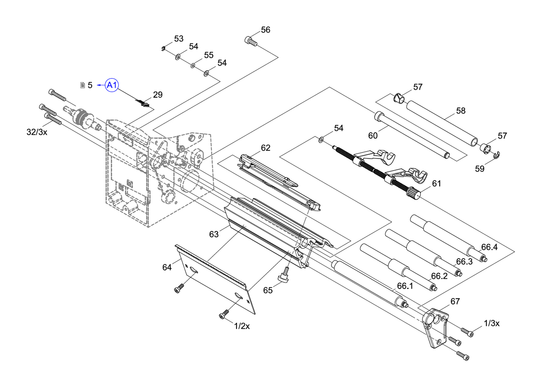Cab A4+ Industrial Label Printer Spare Parts Finder