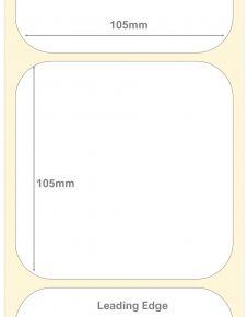 105mm Square Semi Gloss Deep Freeze Labels