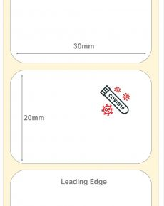 Covid-19 Test Kit Labels : 30mm x 20mm Thermal Transfer Labels