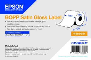 C33S04573- BOPP Satin Gloss Label - 203mm x 68m