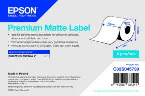 C33S045739 - Premium Matte Label - 203mm x 60m