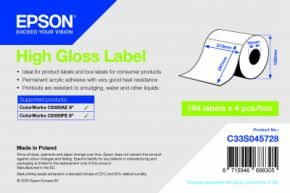 C33S045728 - High Gloss Label - 210mm x 297mm