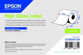 C33S045729 - High Gloss Label - Continuous Roll: 203mm x 58m