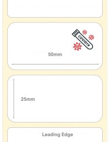 Covid-19 Test Kit Labels : 50mm x 25mm Thermal Transfer Labels
