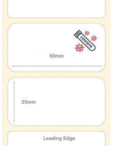 Covid-19 Test Kit Labels : 50mm x 25mm Cryogenic Liquid Nitrogen Polyester Labels