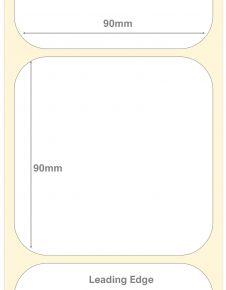 90mm Square Semi Gloss Deep Freeze Labels
