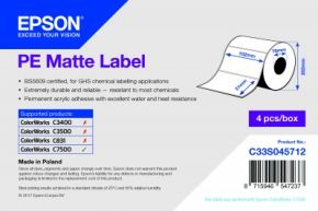 C33S045712 - PE Matte Label - 102mm x 51mm