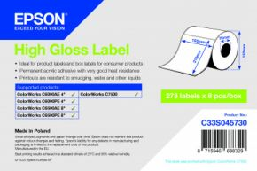 C33S045730 - High Gloss Label - 105mm x 210mm