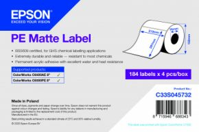 C33S045732 -PE Matte Label - 210mm x 297mm
