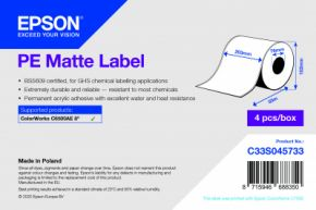 C33S045733 - PE Matte Label - 203mm x 55m
