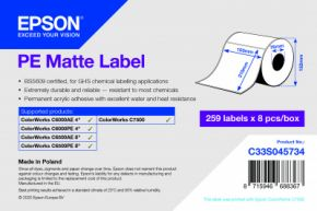C33S045734 - PE Matte Label - 105mm x 210mm