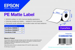 C33S045735 - PE Matte Label - 102mm x 55m