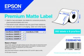 C33S045740 - Premium Matte Label - 105mm x 210mm