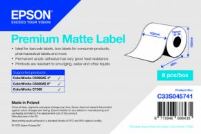 C33S045741 - Premium Matte Label - 102mm x 60m