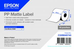 C33S045743 - PP Matte Label - 76mm x 29m