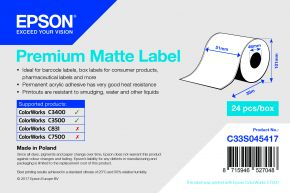 Epson Premium Matte Labels - C3400 & C3500