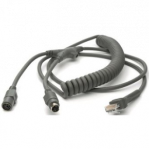 9ft (2.8m) PS/2 Power Port Cable - Coiled - Keyboard Wedge