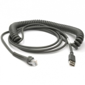 9ft (2.8m) USB Cable - Series A Connector - Coiled