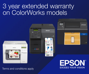 Free 3 Year Extended Warranty from Epson on ALL ColorWorks Label Printers Until 30th September 2020