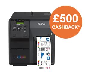 £500 Cashback on Epson Colorworks Label Printers