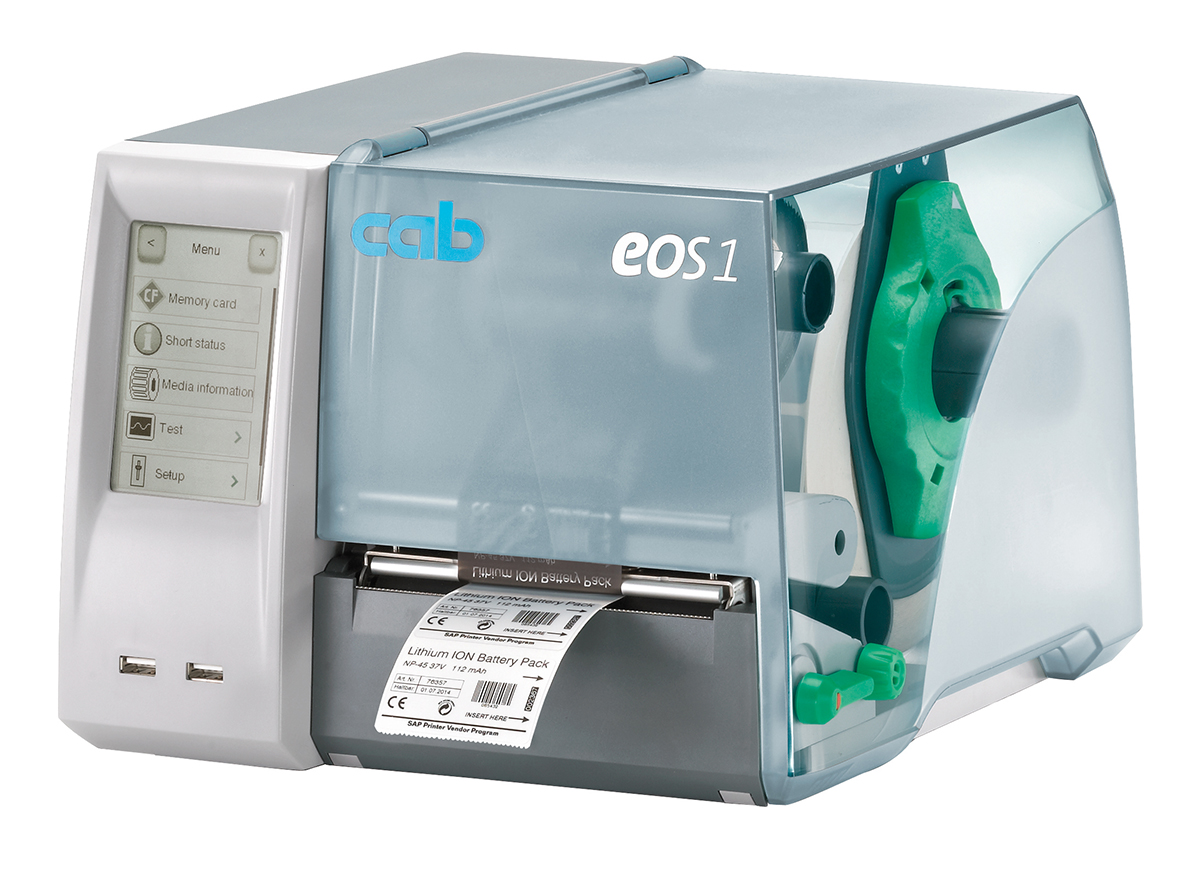 Entry level label printing with the Cab EOS1