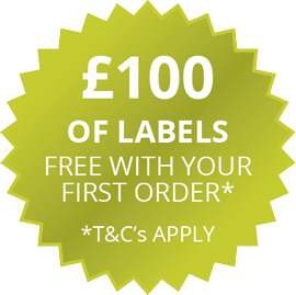 £100 of labels free with your first order