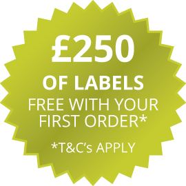 £250 of labels free with your first order